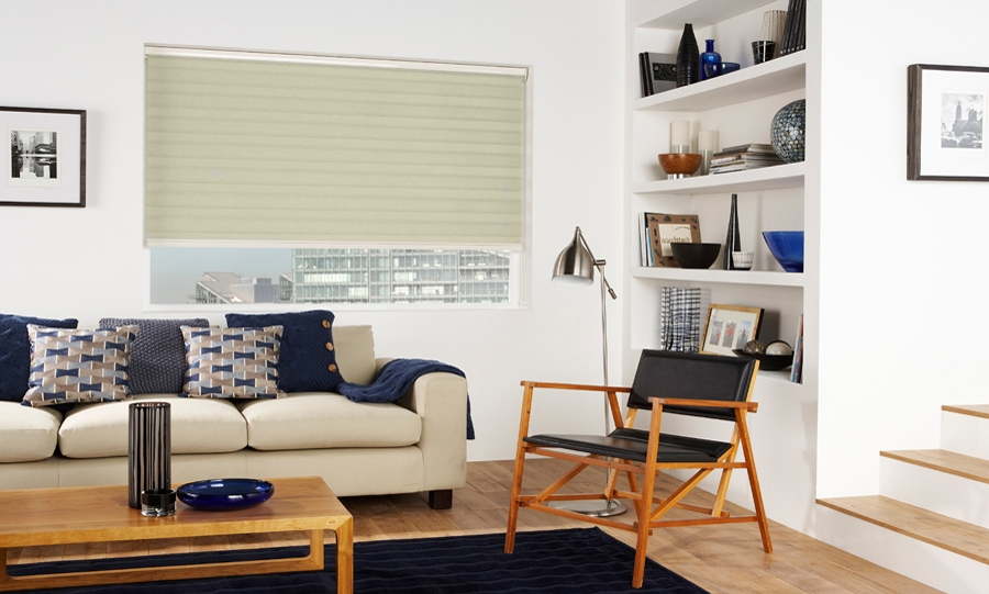 Capri Calico Blind in a lounge