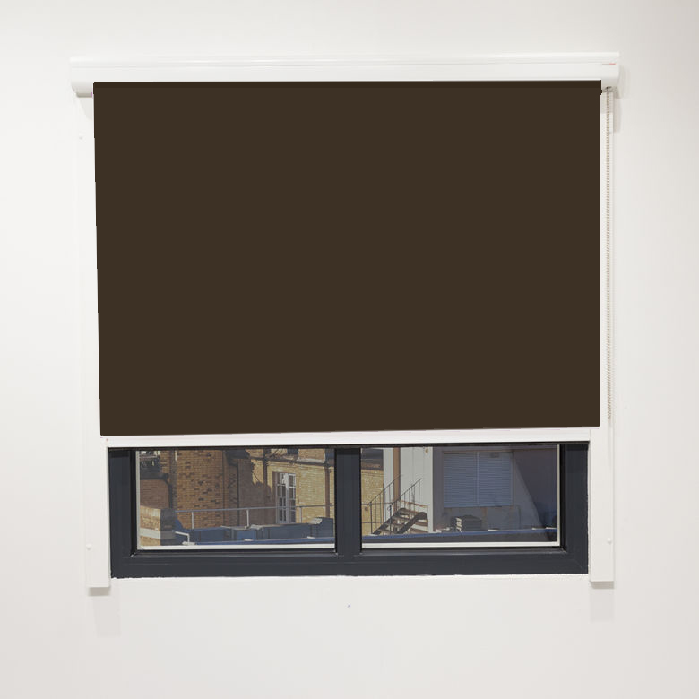 Eden Chocolate Blackout Cassette Blind With Chain