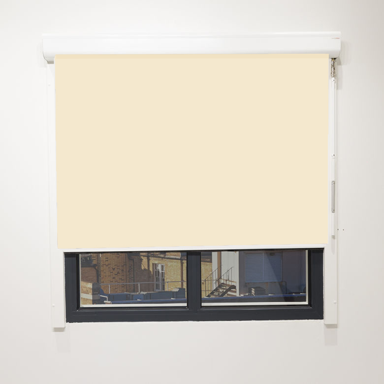 Eden Cream Blackout Cassette Blind With Sidewinder