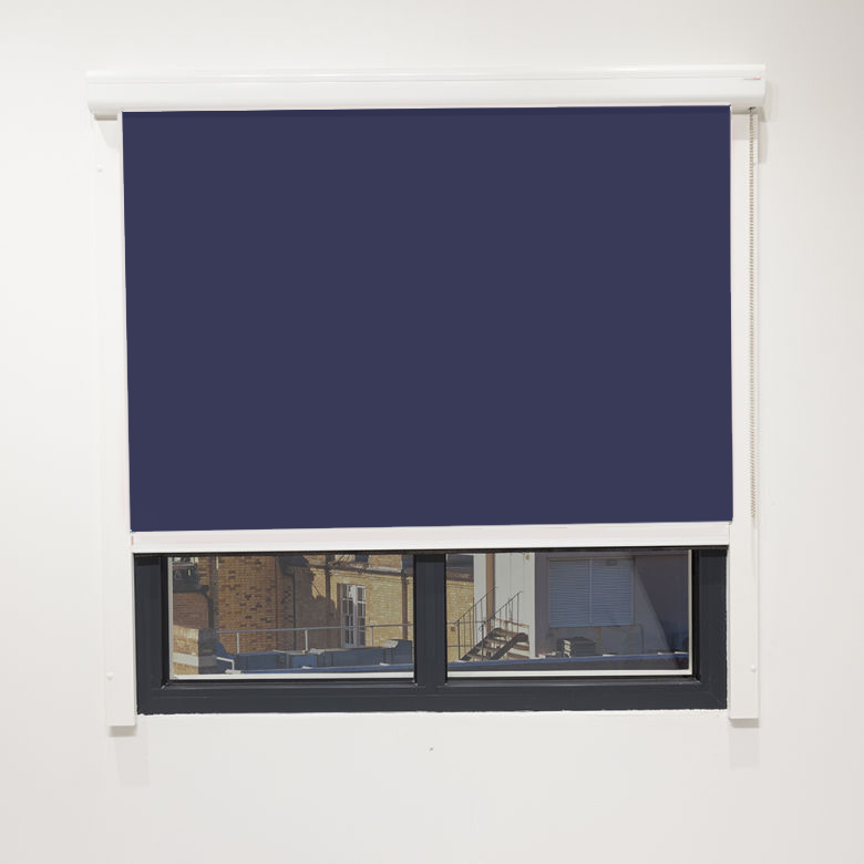 Eden Oxford Blue Cassette Blackout Blind With Chain