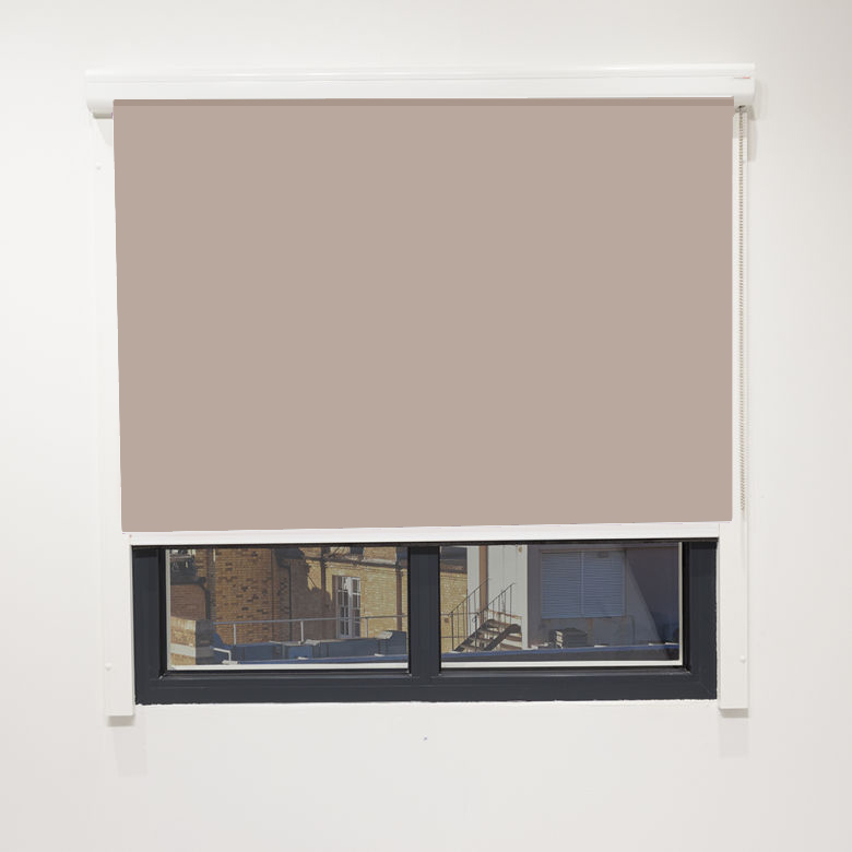 Eden Taupe Blackout Cassette Blind With Chain