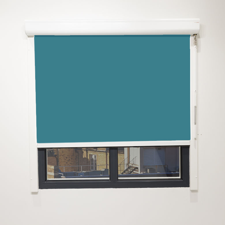 Eden Turquoise Cassette Blind With Crank