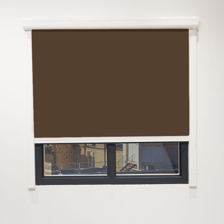 Eden Chocolate Cassette Blind With Side Rails Electric