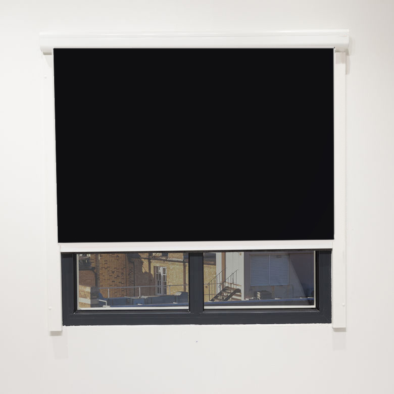 Eden Onyx Cassette Blind With Side Rails Electric