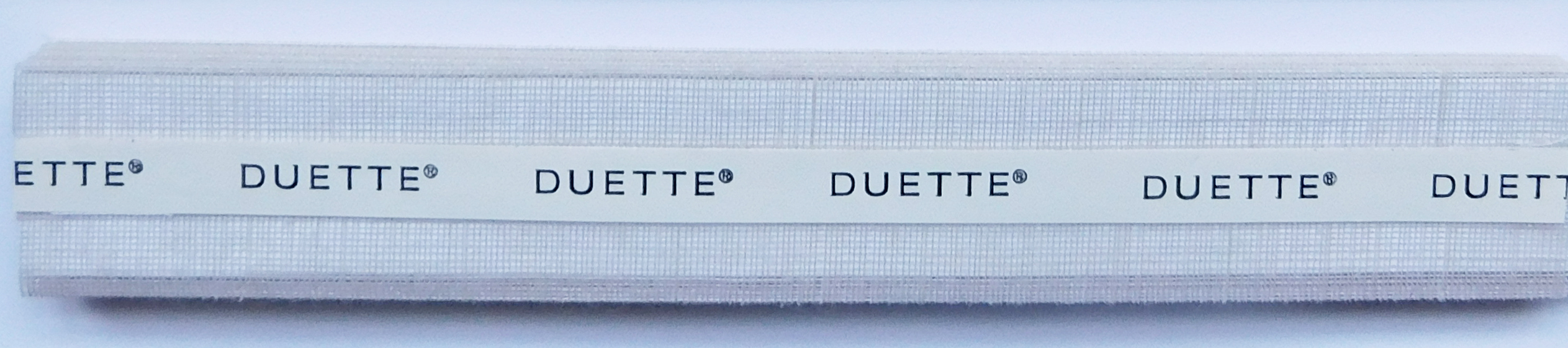Batiste Sheer Oyster Fulltone Duette Blind Fabric Sample