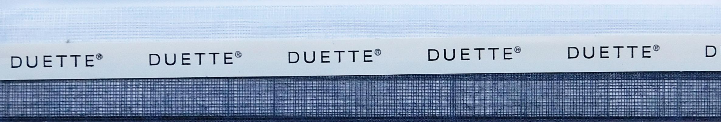 Batiste Sheer Raven Duette Blind fabric sample