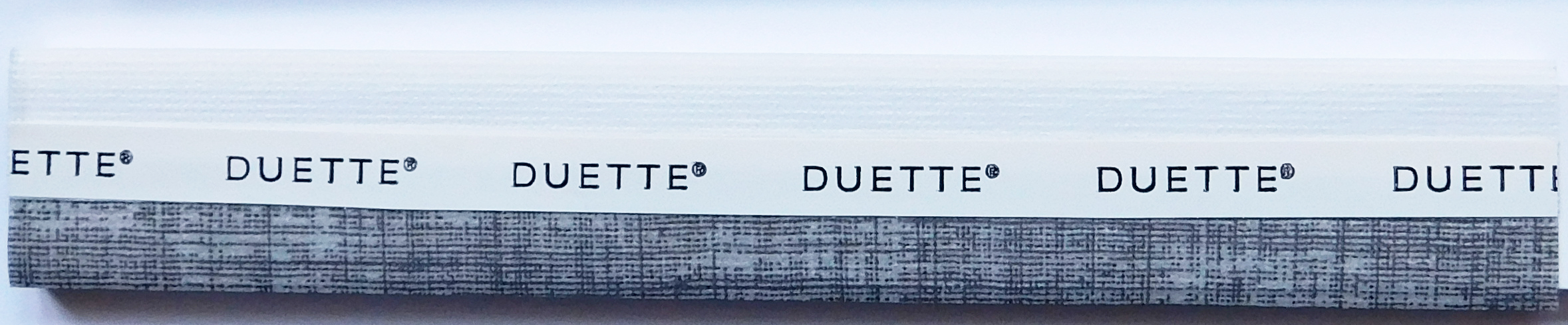 Linum Charcoal Duette Blind Fabric Sample